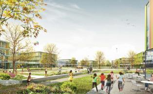 Bildungscampus und Sportpark Freiham Wettbewerb h4a