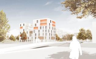 Wohnbebauung Kinderbetreuungseinrichtung Kulturzentrum München Pasing h4a